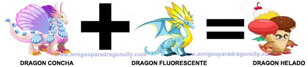 como conseguir el dragon helado en dragon city combinacion 3