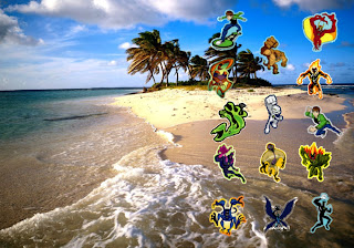 Ben Ten 10 free wallpapers Alien Monsters in Beautiful Island background