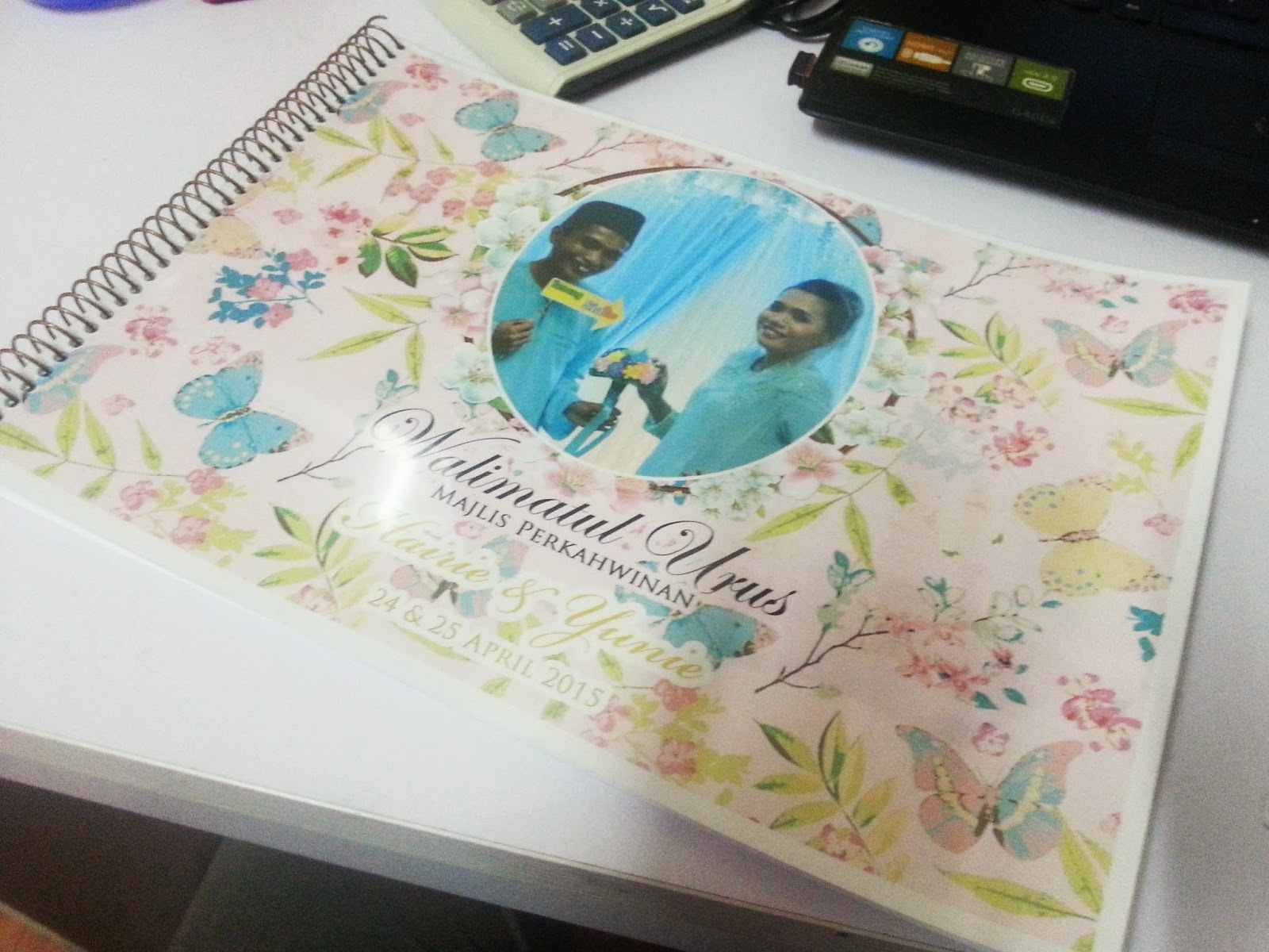 guest book tema floral