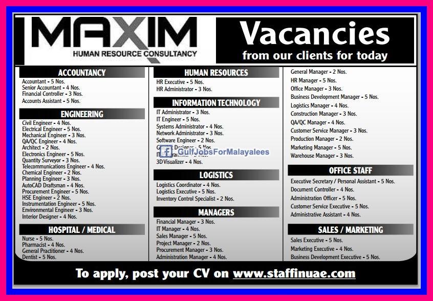 Image Gallery Job Vacancies In Uae