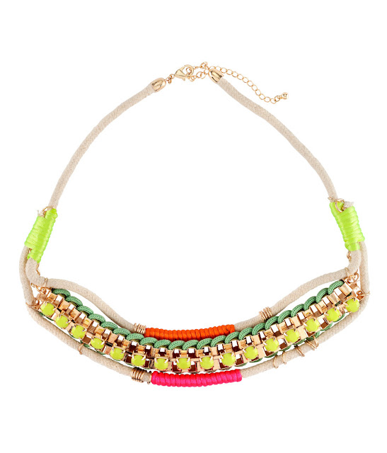 gold fluoro necklace