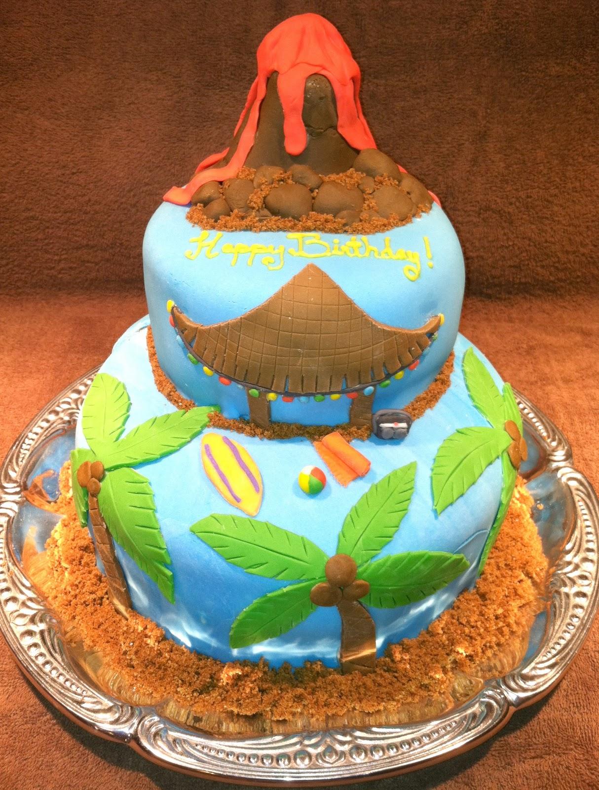3 Tier Luau Cake CakeCentralcom