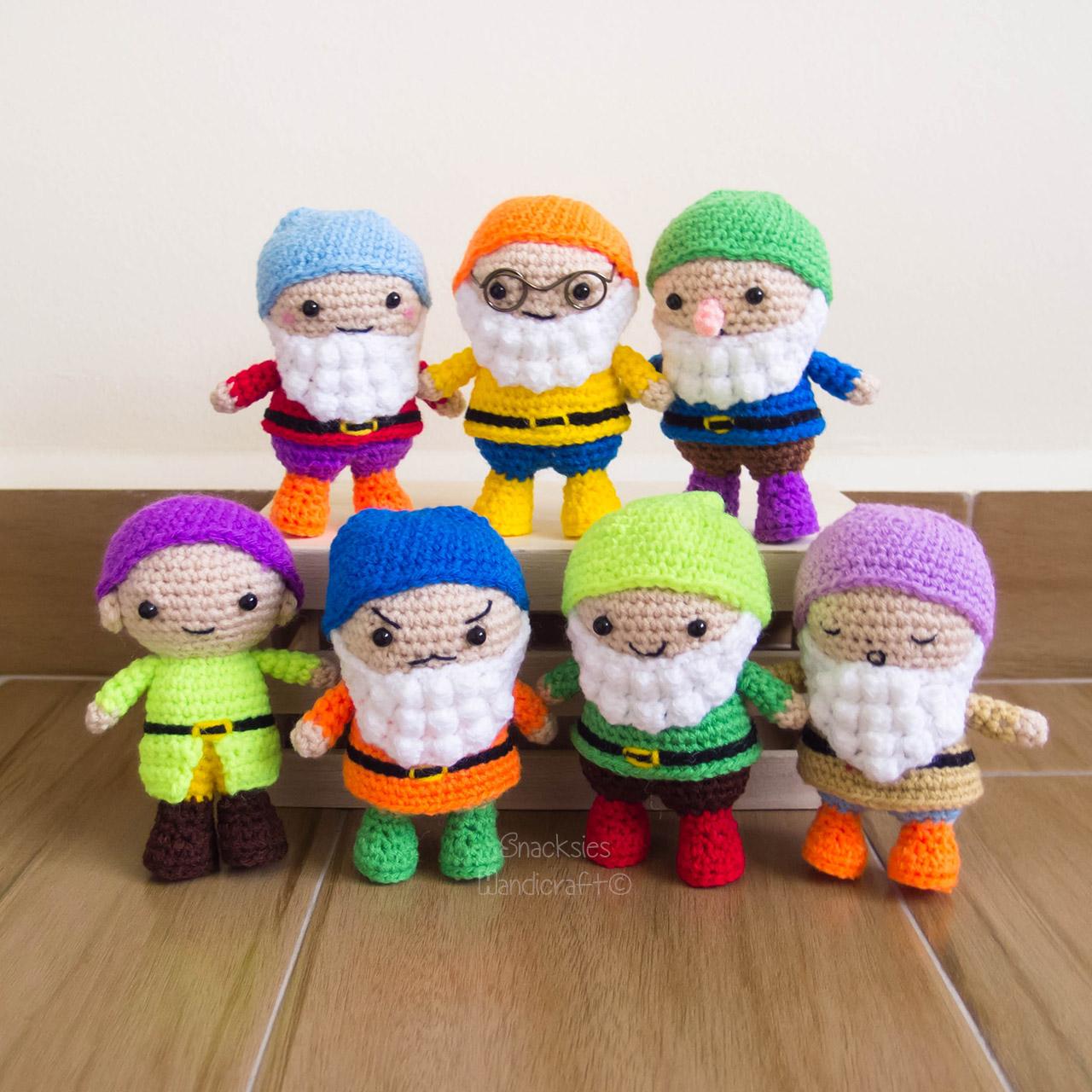 Exceptionnel Seven Dwarfs Crochet Amigurumi Pattern (free) ~ Snacksies  ZQ52