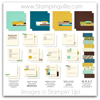 Stampin' Up! Think Back Photobook Template