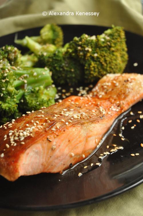 Alexandra's Table: Crispy skin salmon with ginger glaze