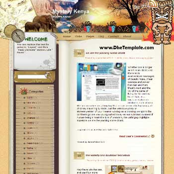 Mystery Kenya template blog from wordpress. travel blog template. template blogger travel for blog
