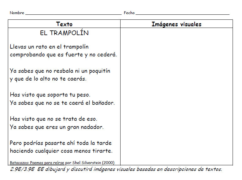 I Teach Dual Language: Literacy Lesson: Spanish Poems for Visualization