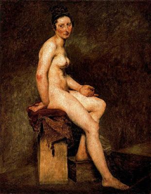 Dona nua asseguda (Alessandro Magnasco 'Il Lissandrino')