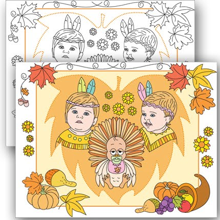 THANKSGIVING * CUSTOM COLORING PAGE