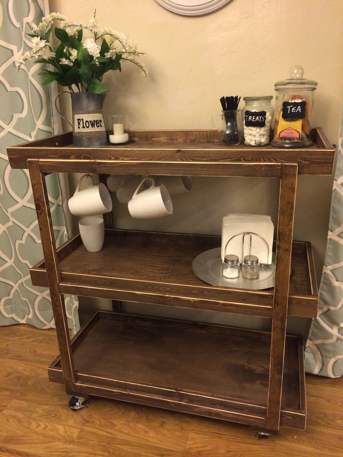 Popular with the Poplins DIY Coffee Cart