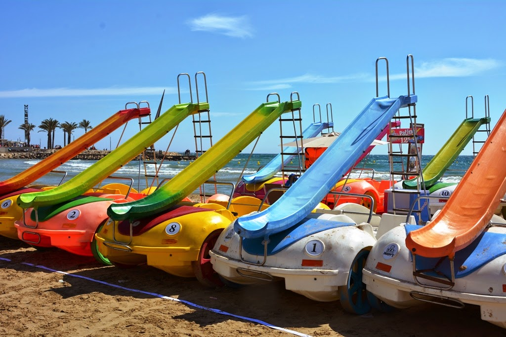 Salou Beach funny cars