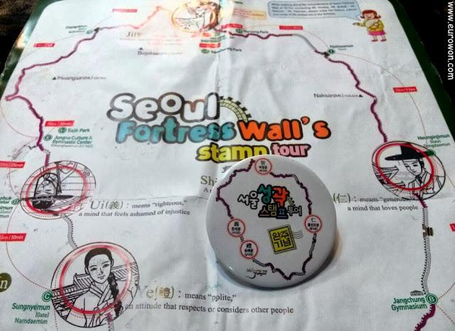 Chapa de recuerdo por completar la muralla de Seúl