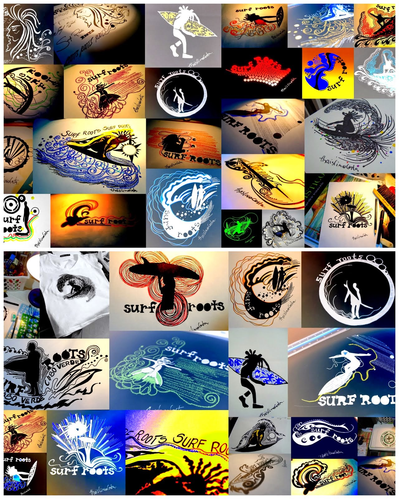 "Desenhos Surf ""Logotipos."""