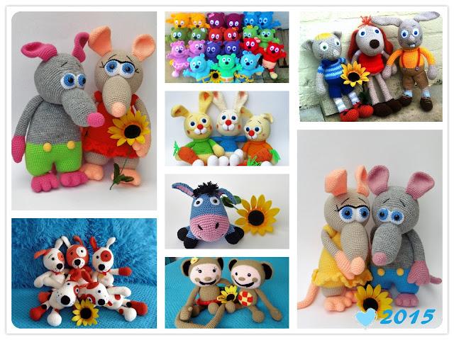 amigurumi#crochet#animal#rat#dog#monkey#donkey#gummy#bear#rabbit#cat#