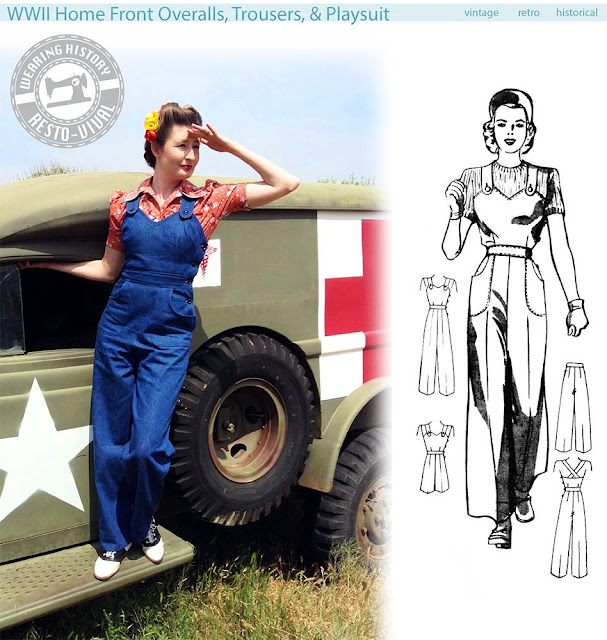 wearing history homefront overalls and trouser pattern