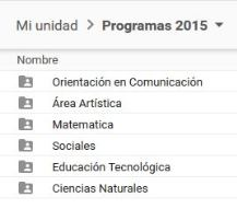 Programas de estudio 2015