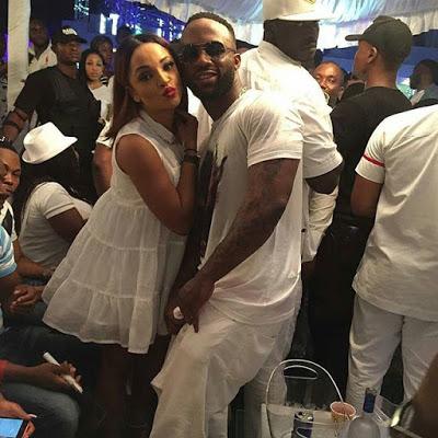 Iyanya Flaunts Girlfriend, Freda, at His All White Birthday Bash (See Photos)