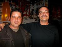 en primer plano Manolo Cascales y Borja Mollá