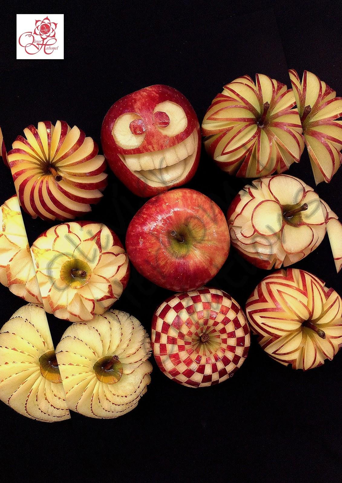 Olivier herbomel sculpteur sur fruits et l gumes fruit and vegetable carving art - Sculpture sur fruit ...