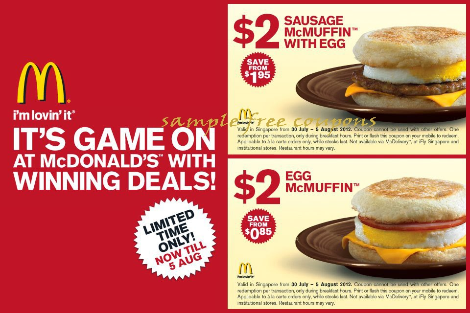 Mcdonalds coupons june 2019