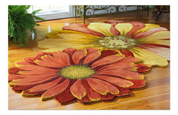 Wonderful Blooming Floor Rug