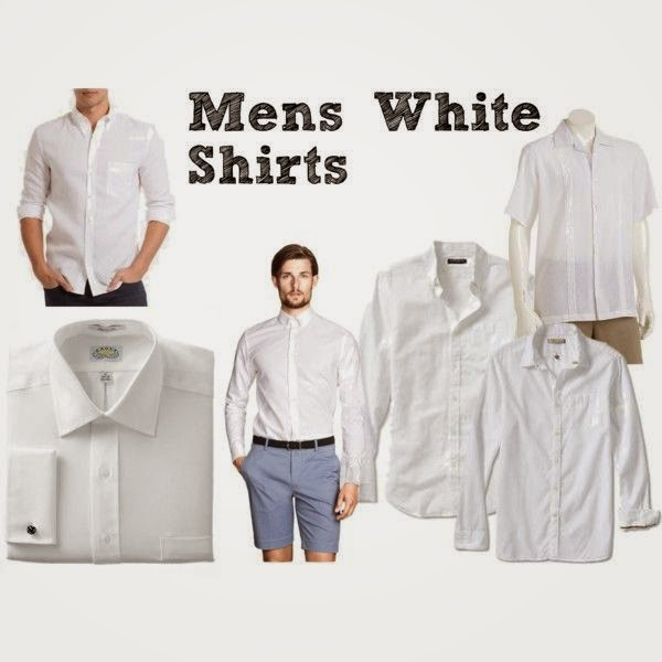Dîner en Blanc: Mens White Shirts | all dressed up with nothing to drink...