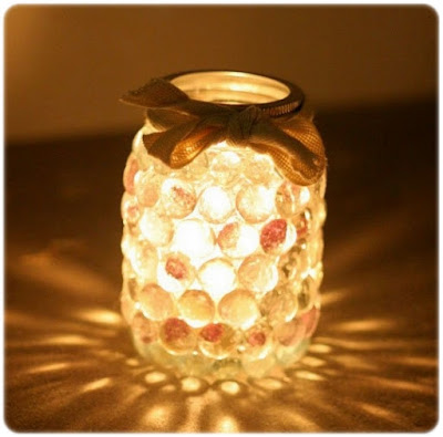 DIY crafts prism candle light