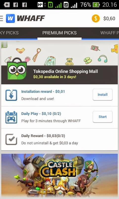 Aplikasi Smartphone Android Penghasil Uang $Dollar USD