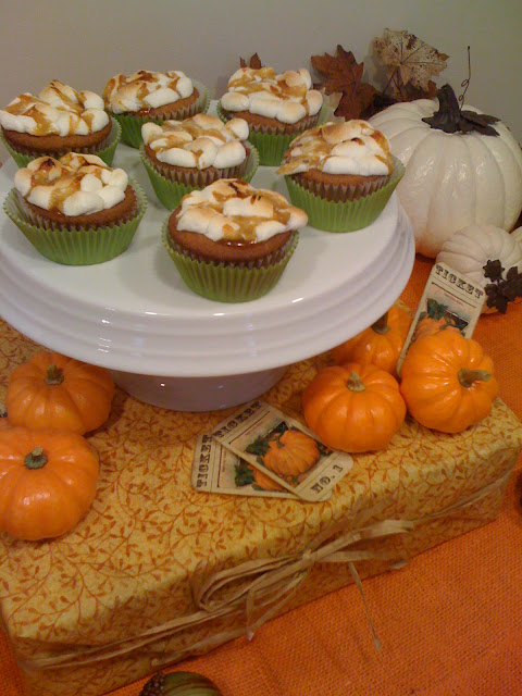 ... Ideas: Sweet Potato Cupcakes with Marshmallow and Caramel Topping