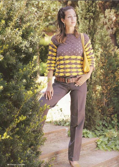 #8 Blusa Bicolor a Crochet