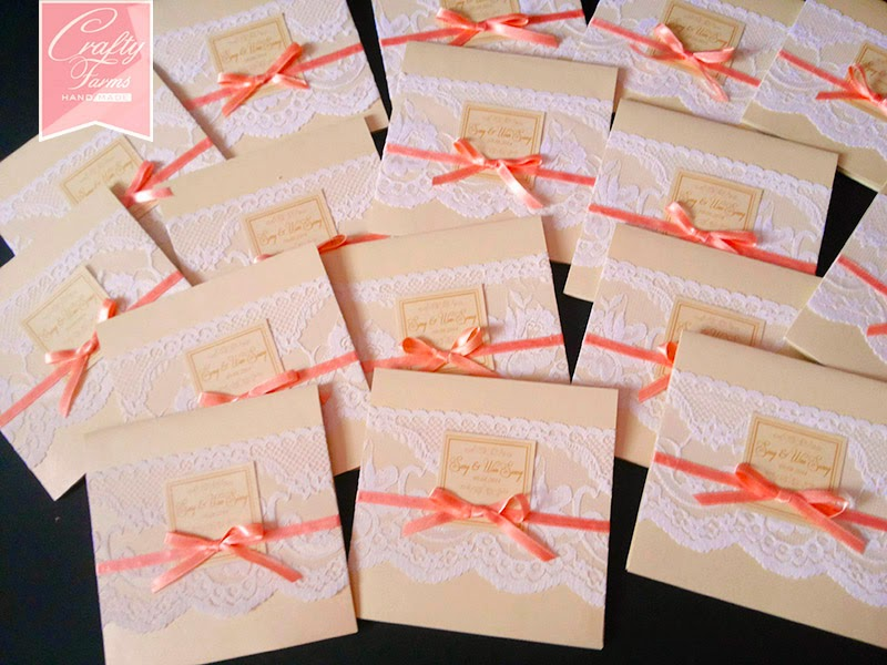 Wedding Card Malaysia | Crafty Farms Handmade : Classic Cream and ...