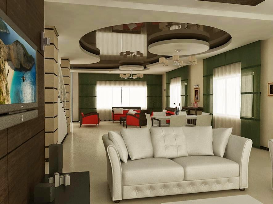 false ceiling pop designs of gypsum for modern living room
