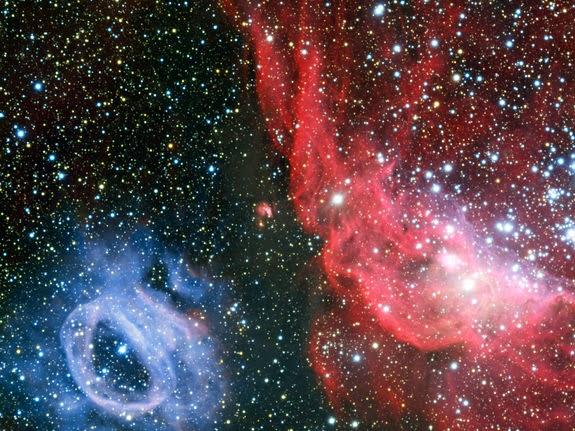 Imagem: Nuvens estelares vizinhas