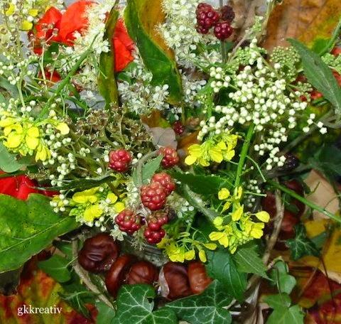 gk kreativ: Herbstdekoration   Basteln herbst, Herbstdeko mit kindern basteln, Bastel herbst