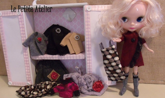 Storing Doll Clothing Can Be Challenging. Especially Mini Doll Clothes. I  Made A Doll Closet Out Of A Modern Sized Jewelry Box Then Later Sold It.