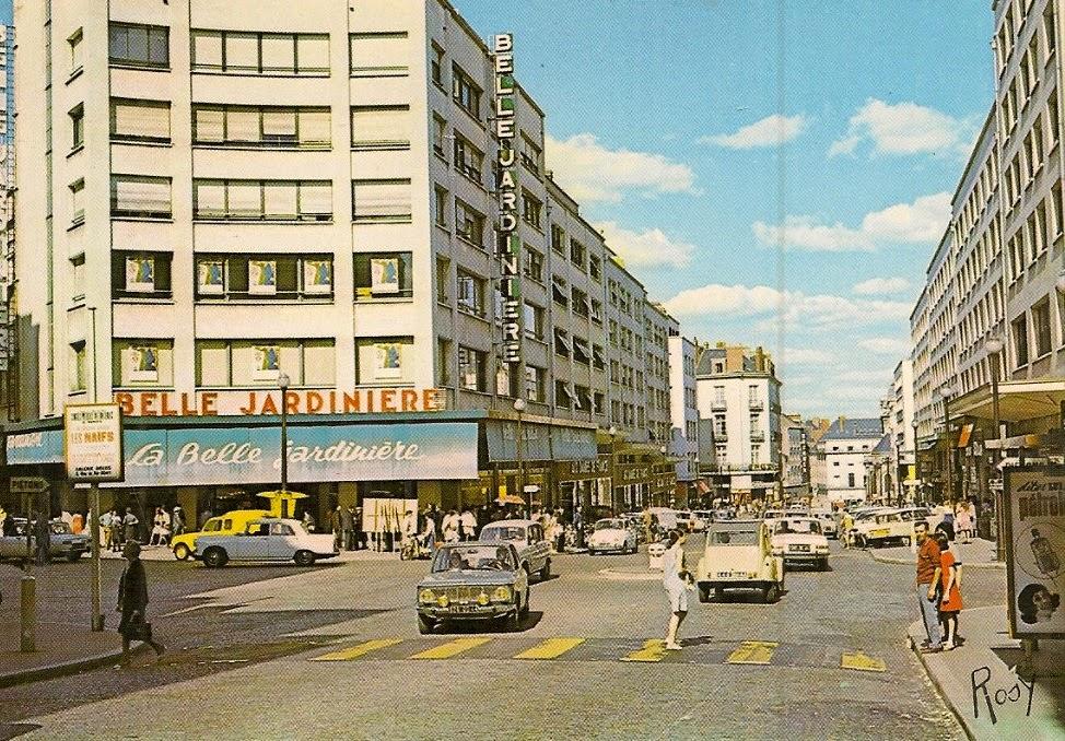 de années 1970 vue des grands magasins de la place des volontaires de