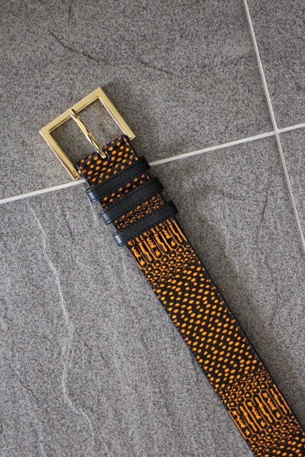 & Other Stories snakeskin belt