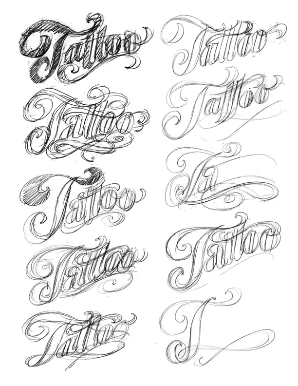 the art of hand lettering the tattoo logo. Black Bedroom Furniture Sets. Home Design Ideas