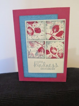Rose Red and Marina Mist   zena kennedy independent stampin up demonstrator