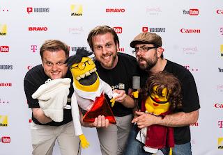Die YouTube Puppen-Sketch-Comedy TubeHeads wird auf den Videodays ausgezeichnet