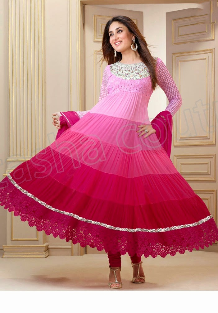 KareenaKapoorSemiGeorgetteSalwarSuits2014 15 wwwfashionhuntworldblogspotcom 004 - Kareena Kapoor Semi Georgette Salwar Suits 2014-2015