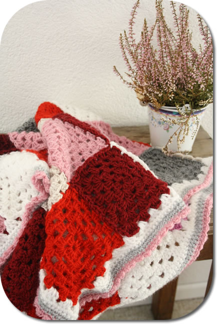 Crochet baby blanket granny squares