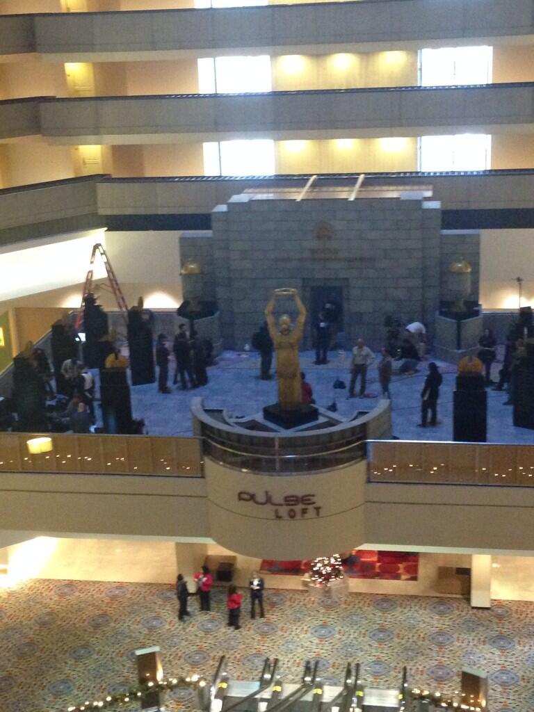 Mockingjay Set At The Marriott Marquis Hotel In Atlanta GA Quarter Quell