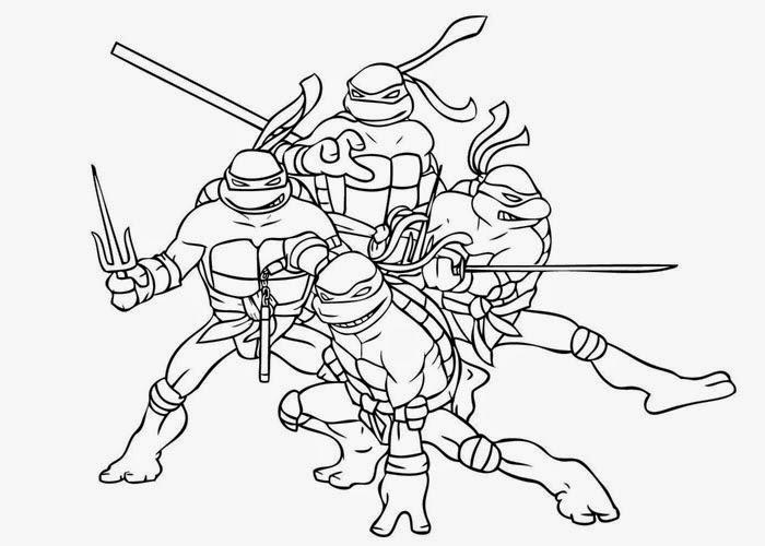 tiger ninja turtles coloring pages - photo#13