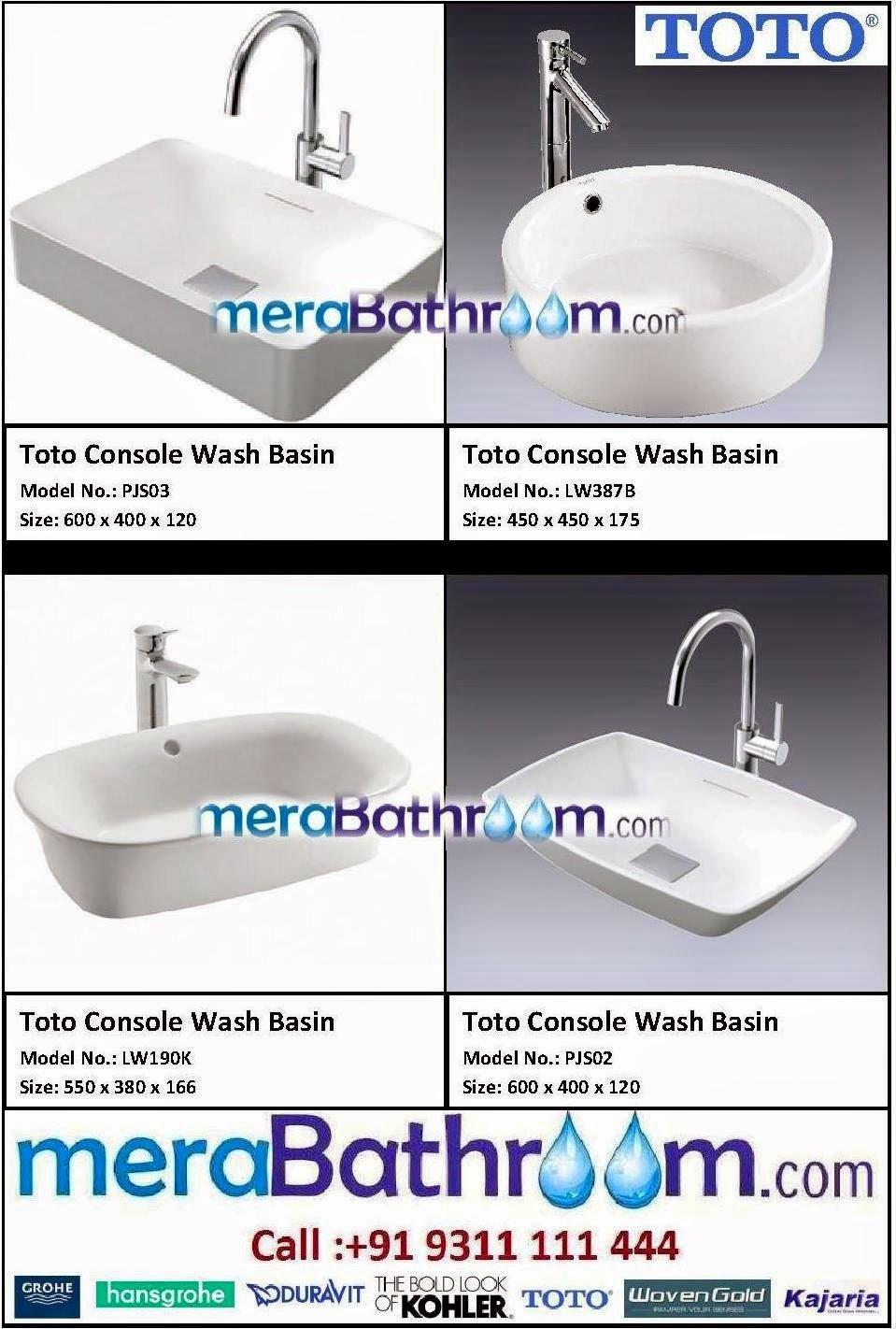 DURAVIT: Toto Console Wash Basins