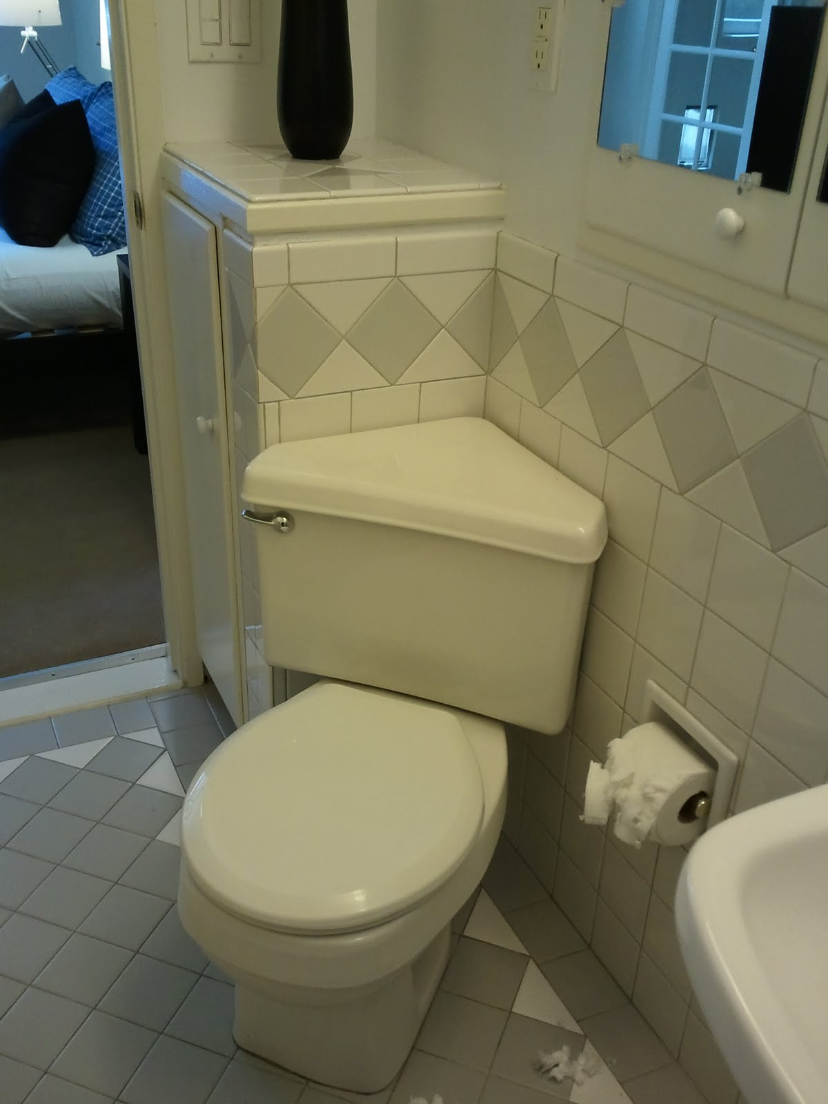 The Pan that Can Corner toilet