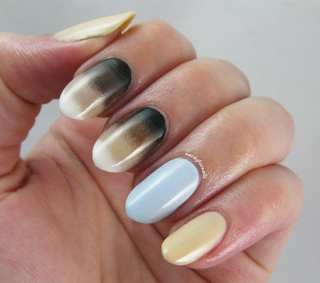 Siamese Cat Inspired Nails