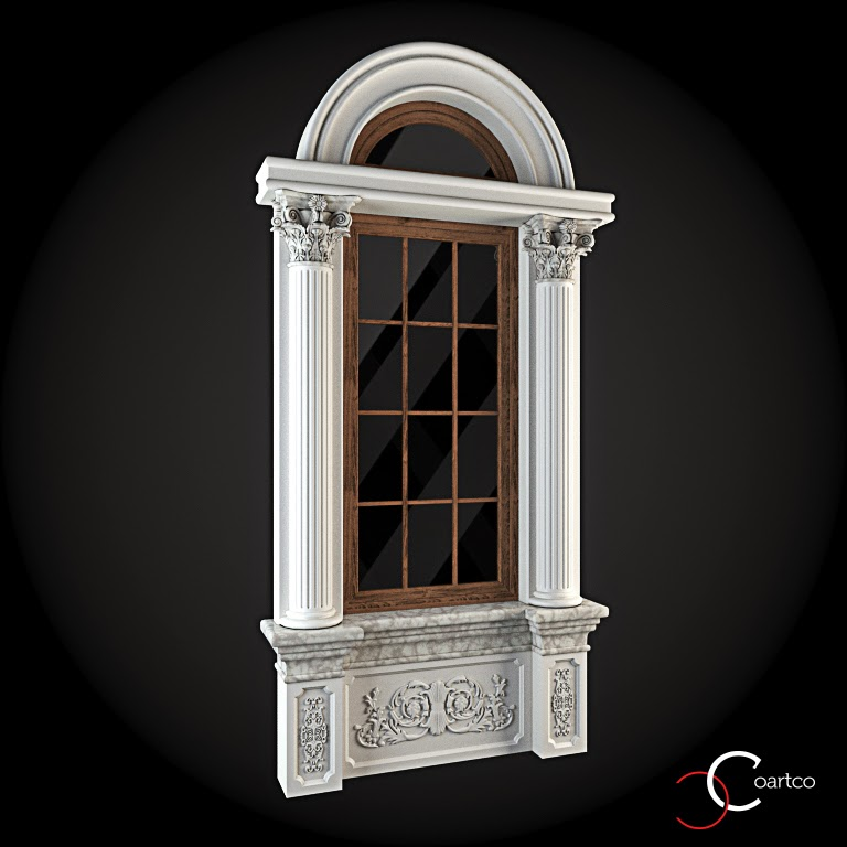 Ornamente Geamuri Exterior,Arcada fatade case cu profile decorative polistiren, profile fatada,  Model Cod: WIN-028