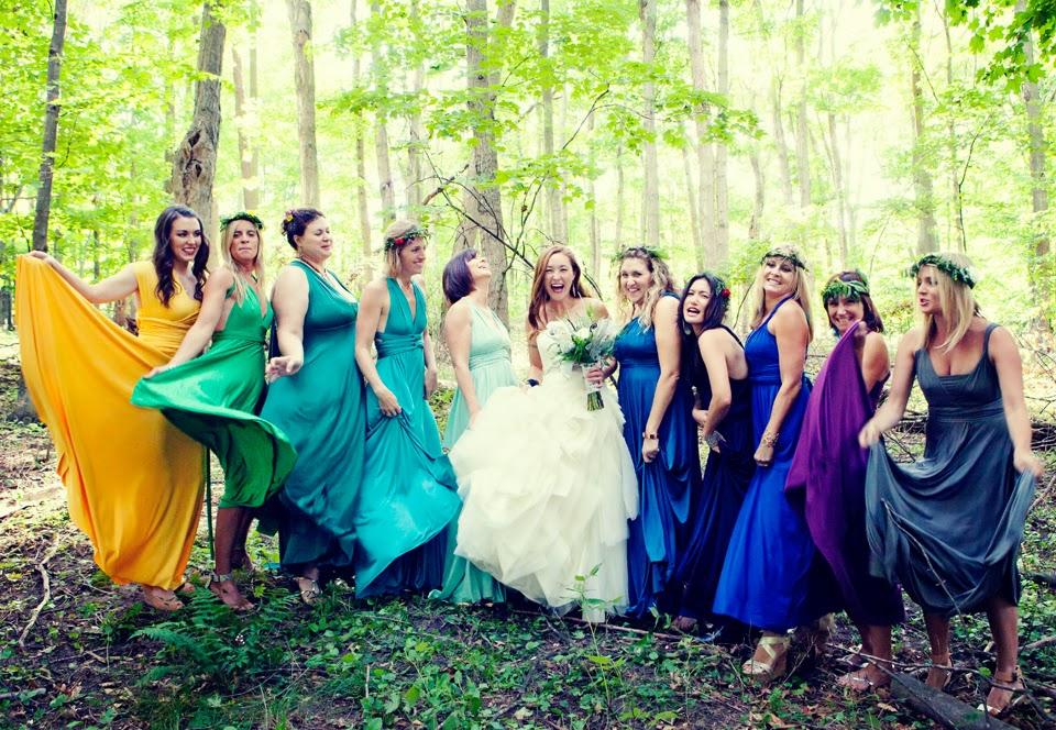 bridesmaids in spring
