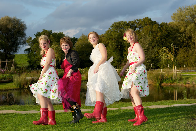 How much fun does this wedding look While I 39m off to dig out my wellies